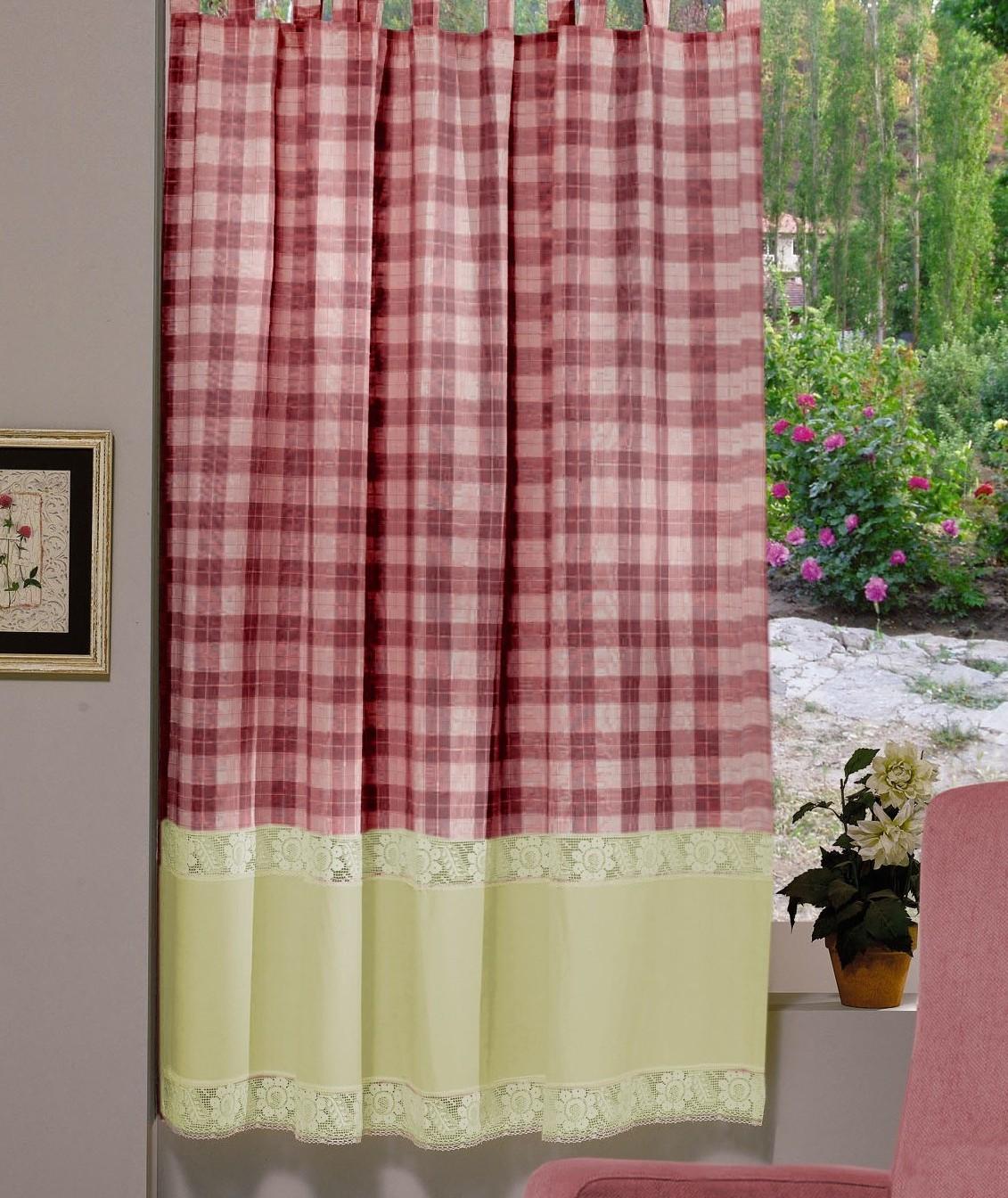 Perdea Confectionata Valentini Bianco Pr009 Burgund