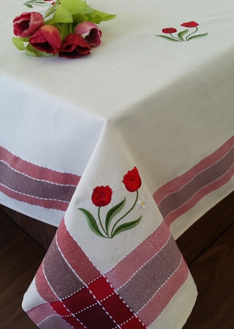 Fata De Masa Valentini Bianco Wky12 Red
