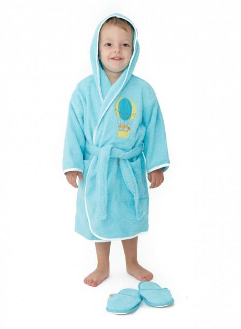 Halat-de-baie-copii-2-4-ani-Ballon-Turquise