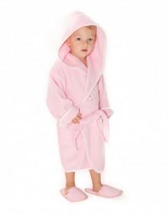 Halat-de-baie-copii-2-4-ani-Bees-Roz-