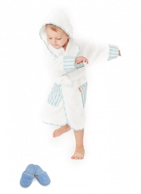 Halat-de-baie-copii-2-4-ani-Train-Alb-