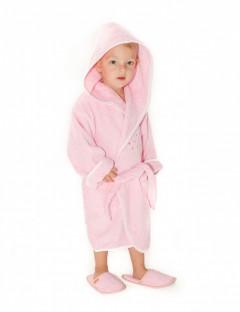 Halat-de-baie-copii-4-6-ani-Bees-Roz