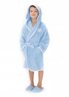 Halat-de-baie-copii-6-8-ani-Bees-Blue