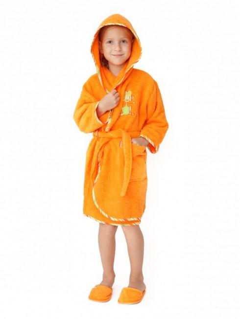 Halat-de-baie-copii-6-8-ani-Frog-Portocaliu