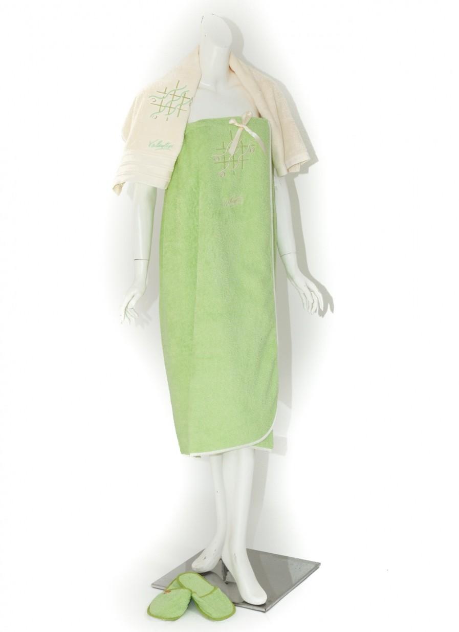 Set De Baie Dama Valentini Bianco Tmpa/2115/81002 Verde