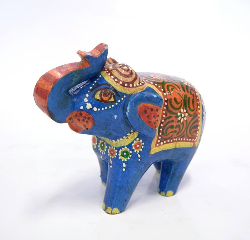 Statueta Elefant Mare Blue Exotique