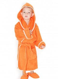 Halat-de-baie-copii-4-6-ani-Snail-Portocaliu-e1460223138495