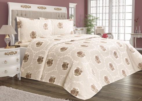 TH-Rosa beige Cuvertura de pat Valentini Bianco