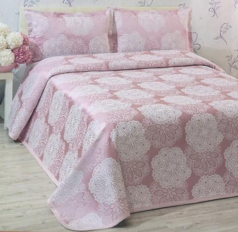 TH-Chenille Roz (lilac) Cuvertura de Pat Valentini Bianco