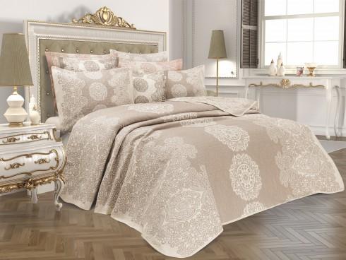 TH-Onella Bej Cuvertura de pat Valentini Bianco