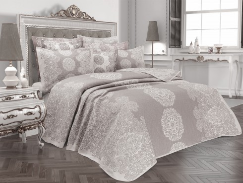 TH-Onella Gri Cuvertura de pat Valentini Bianco