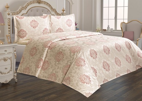 TH-Vivrere Roz Cuvertura de pat Valentini Bianco