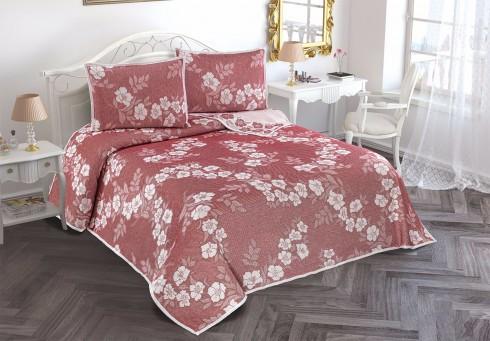 Th-Nelly bordo - red Cuvertura de pat acril (patura) Valentini Bianco