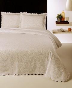 LT-Fust 045-Crem Cuvertura de pat Valentini Bianco