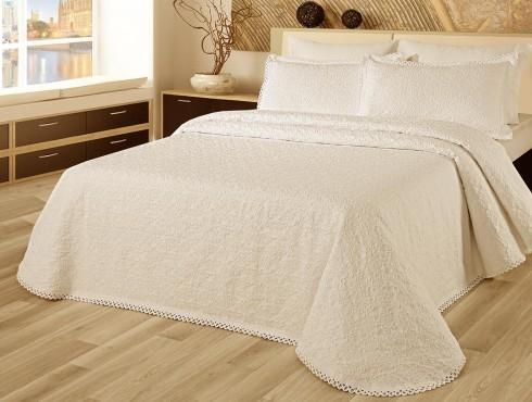 LT-Fust 217-Crem Cuvertura de pat Valentini Bianco