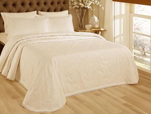 LT-Fust 274-Crem Cuvertura de pat Valentini Bianco