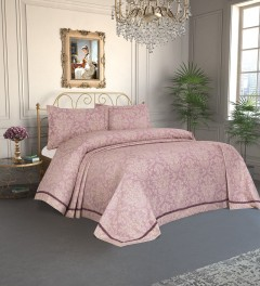 Damasc Lilac Cuvertura de pat Valentini Bianco